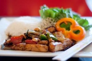 Chicken with cashew sauce